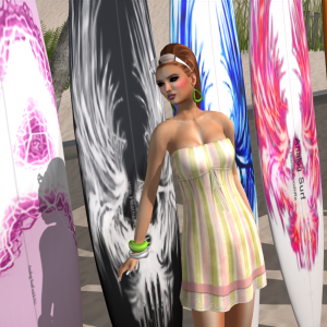 Blueberry-Aika Mesh dress in pink and green