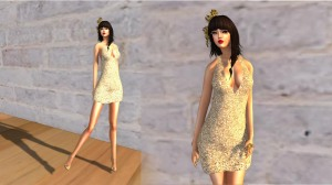 Amarelo Manga - Sequins Suelen dress