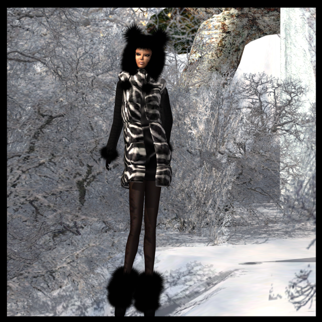 fur bear bonnet black_005a