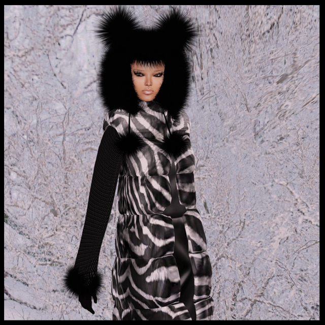 fur bear bonnet black_009a