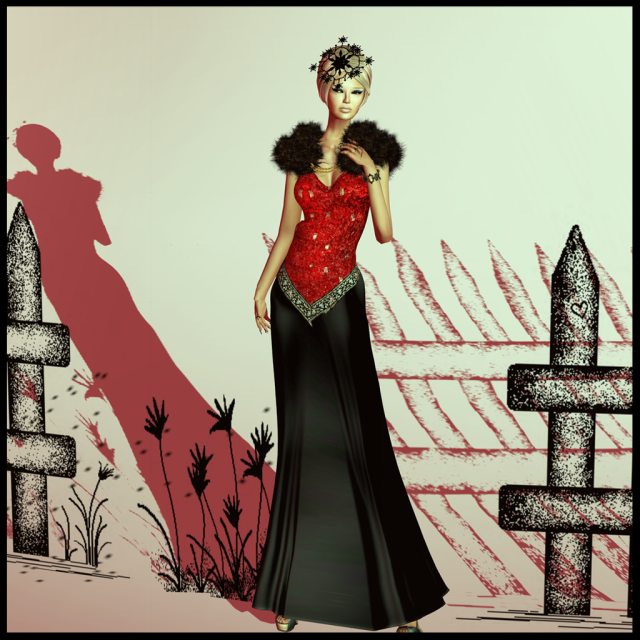 isabel gown red xmas edition_005b